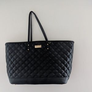 BCBG black quilted tote.